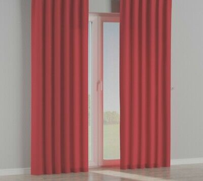 Warm Spice Red 100% Cotton Canvas Curtains 66  X 90   Tab Top    #3918 • 19.99£