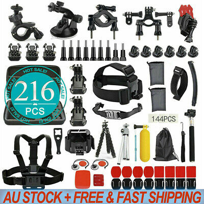 AU33.98 • Buy 216pcs Pack Case Chest Head Float Monopod Accessories GoPro Hero 8 7 6 5 4 3+ AU