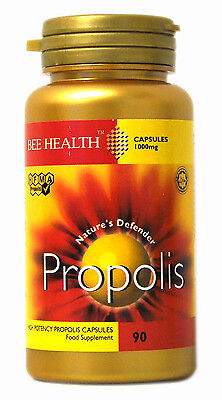 1 X Bottle Bee Health PROPOLIS 1000mg X 90 Capsules Healthy Immune System • 11.15£