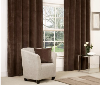 £21.99 • Buy CHENILLE HEAVY & THICK FULLY LINED 3  CURTAIN TAPE  In  CHOCOLATE BROWN  Ex B&Q