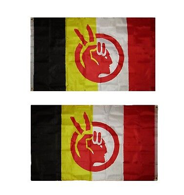 $9.88 • Buy American Indian Movement AIM Flag Double Sided 5x3 Banner Grommets Heavy Duty