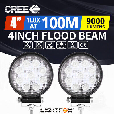 AU22.95 • Buy 2x 4inch Cree LED Work Lights Flood Combo Round Fog Lamp Reverse Offroad 4WD