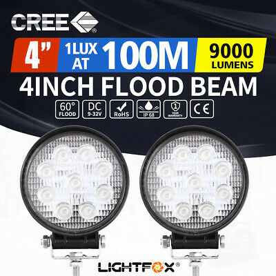 AU26.95 • Buy 2x 4inch Cree LED Work Lights Flood Combo Round Fog Lamp Reverse Offroad 4WD