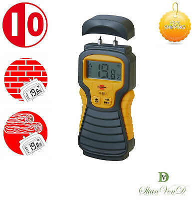 Moisture Meter Detector Wood Damp Timber Plaster Humidity Digital Tester Sensor • 24.99£