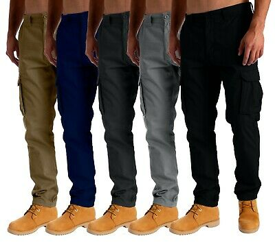£14.95 • Buy Mens Cargo Combat Work Trousers Chino Cotton Pant Work Wear Jeans Size 32-44