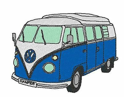 VW Split Screen Camper Embroidered & Personalised Polo Shirt • 17.45£