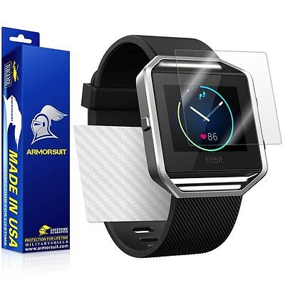 AU18.45 • Buy ArmorSuit - Fitbit Blaze Screen Protector + White Carbon Fiber Skin