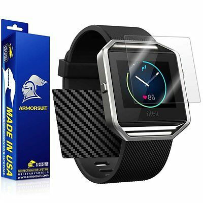AU18.45 • Buy ArmorSuit - Fitbit Blaze Screen Protector + Black Carbon Fiber Skin