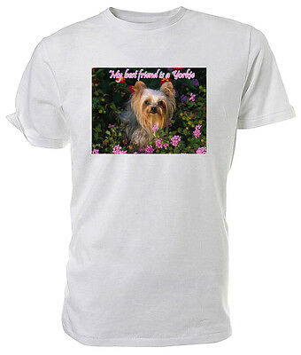 Yorkshire Terrier T Shirt, My Best Friend - Choice Of Size & Colours! • 6.99£