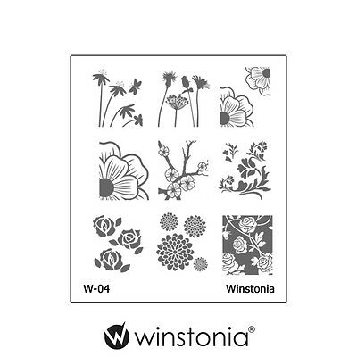 $4.95 • Buy Winstonia Floral Nail Art Stamping Image Plate Stamp Polish Disc Romantic Cute