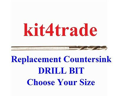 DART Replacement Countersink Flat Flange Drill Bit  - Choose Your Size • 2.85£