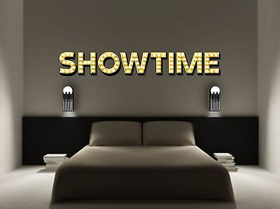SHOWTIME Light Up Illuminated Effect Letters Wall Sticker Decal Art Theatre • 14.99£