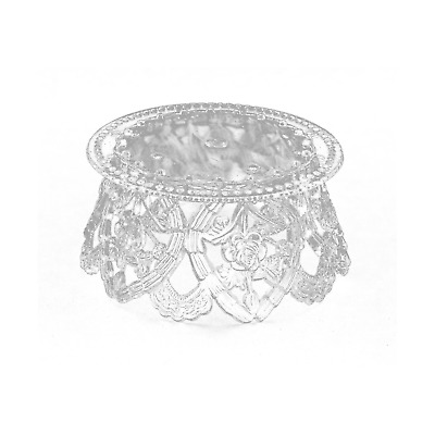 $11.60 • Buy 3.5 Inch Clear Plastic Ornament Base For Cake Topper Base & Favors 12 Pieces