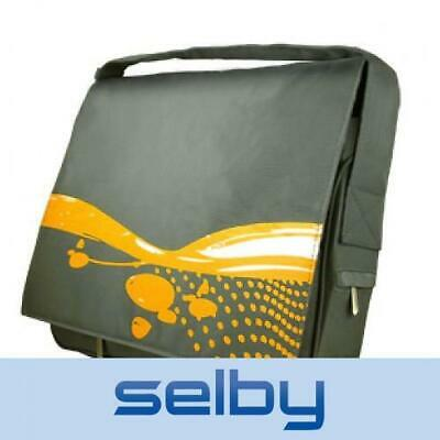 AU14.95 • Buy 15  Laptop Notebook Messenger Bag Padded Yellow & Grey Hipster Retro Style