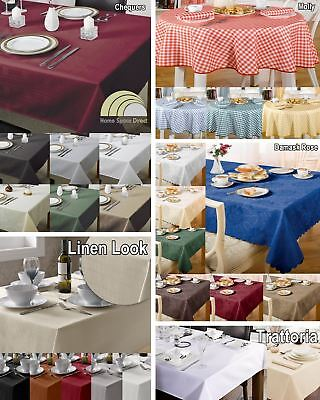 £10.64 • Buy Table Cloth Kitchen Dining Tablecloth Table Cover Protector Rectangle Circular