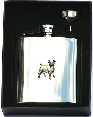 £28.99 • Buy Jack Russell 6 Oz Hip Flask Personalised Shooting Gift Boxed FREE ENGRAVING 199