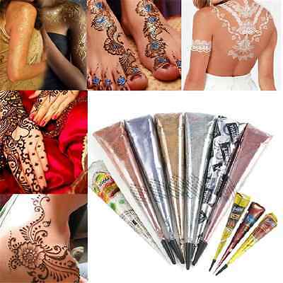 390b56a4e 10 Colors Natural Herbal Henna Cones Temporary Tattoo Body Art Paint  Mehandi Ink • 1.16$