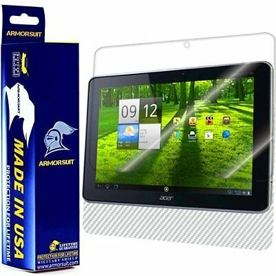ArmorSuit MilitaryShield Acer Iconia Tab A700 Screen Protector + White Carbon • 13.11£