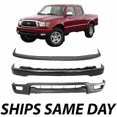 $190.99 • Buy New Complete Steel Front Bumper Deflector Combo Kit For  2001-2004 Toyota Tacoma