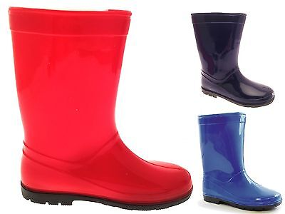 £8.99 • Buy New Childrens Wellington Boots Snow Rain Shoes Wellys Wellies Boys Girls Size