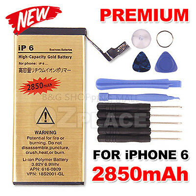 AU10.95 • Buy For Apple IPhone 6 High Capacity Internal Replacement Battery Tools Kit 2850mah