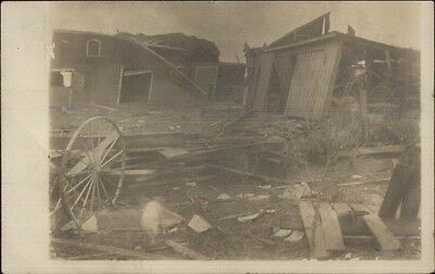 $ CDN16.40 • Buy Destroyed Bldgs From Storm Monmouth IL Cancel - Mailed To Oquawka IL RPPC