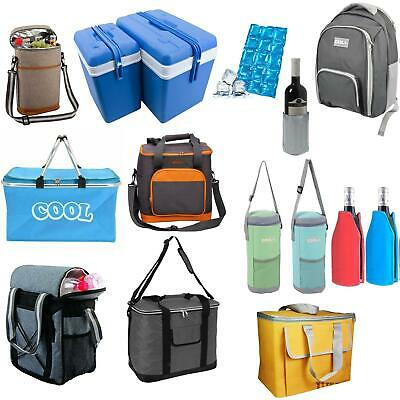 £3.49 • Buy Insulated Cool Tote Bag ZipUp Ice Cooler Shoulder Strap Picnic Drinks Ice Blocks