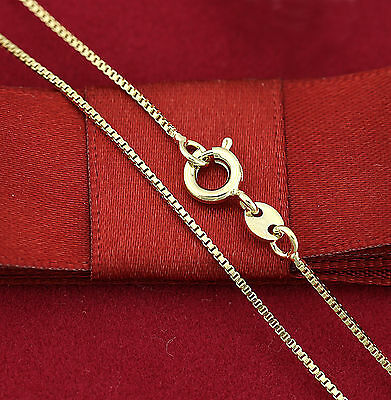 AU9.72 • Buy Womens Girls 18K Plain GOLD FILLED Dainty BOX CHAIN NECKLACE FOR PENDANT 45cm