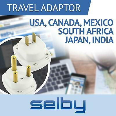 AU25 • Buy Travel Adaptors Pair For USA Canada Mexico Japan India South Africa