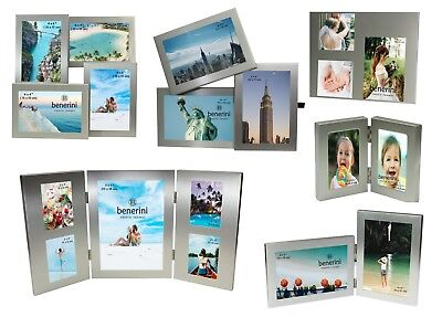 Silver Multi Aperture Picture Photo Frame 2 3 4 5 6 Collage Multiple Large Gifts • 5.50£