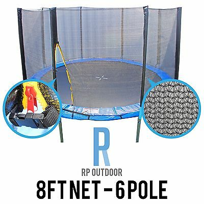 AU34.99 • Buy NEW Replacement Trampoline Safety Pole Net Round Spare 8ft/Foot 6 Pole