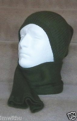 $10.99 • Buy New Danish Military Surplus Tube Scarf Wool Blend Neck Gaiter Face Covering