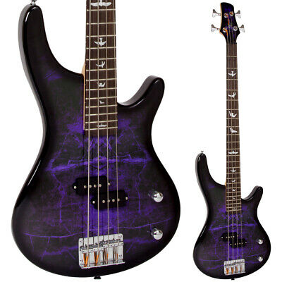 Lindo Purple Dove Electric Bass Guitar P-Bass Pickups & Free Gig Bag And Cable  • 249.99£