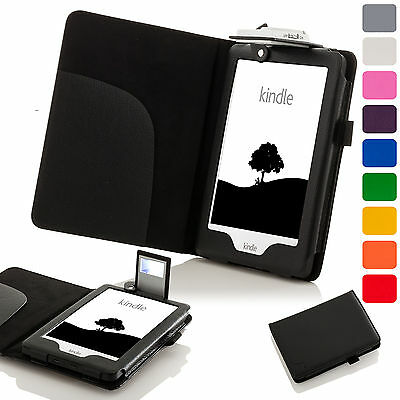 Forefront Cases® Leather Case Cover With LED Light Amazon Kindle 2016 8th Gen • 5£