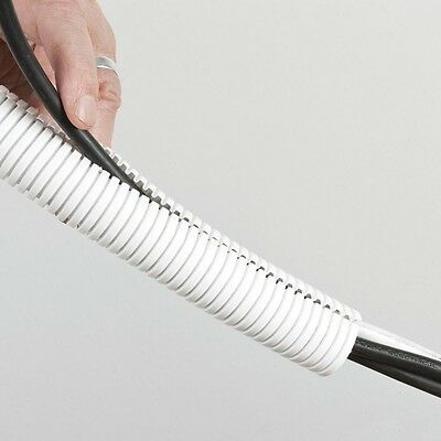 £3.99 • Buy New Cable Tidy White 20mm 1 Metre, Polypropylene, Office, Hide From Animals, Car