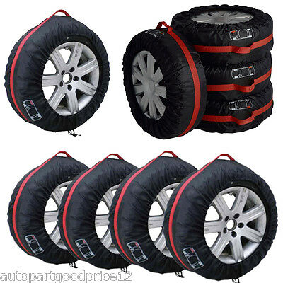 $36.82 • Buy 4Pcs 16 -22  Car Spare Tyre Tire Protection Cover Carry Tote Handle Storage Bags