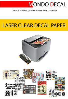 £9.92 • Buy Waterslide Decal Paper Laser Kit: 4 Sheets A4 (2 Clear + 2 White)