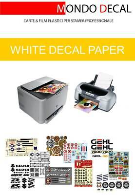 £6.59 • Buy Waterslide Decal Paper (white Base) For Laser & Inkjet Print: 2 Sheets A4