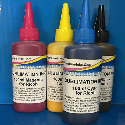 4x100ml Dye SUBLIMATION Ink Formulated For Ricoh SG 2100N SG 3110DN Gel Printers • 25£