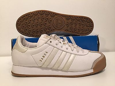 $ CDN55 • Buy Classic 2004 Adidas SAMOA Women's White/Gum/Gold Leather & Swede Size 9 Mint