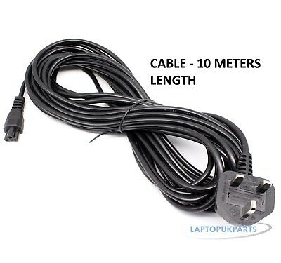 £3.99 • Buy 10M Long C5 CLOVERLEAF 3 PIN MAINS CABLES POWER LEAD FOR 0CNJVV UK