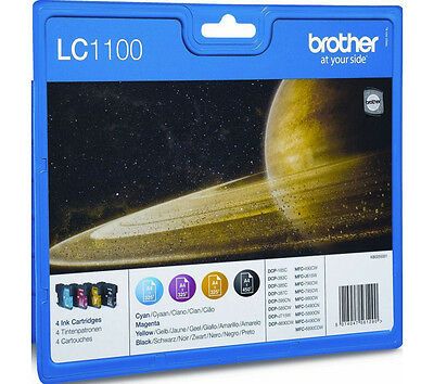 £55.75 • Buy Genuine Brother DCP-J715W DCP-6690CW Ink Cartridges Multipack LC1100