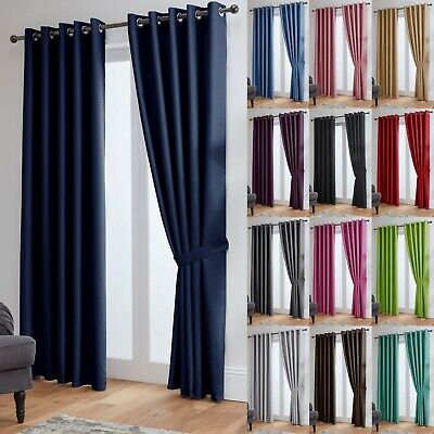 View Details Thermal Blackout Curtains Ready Made Eyelet Curtains - Dimout Energy Saving  • 2.00£