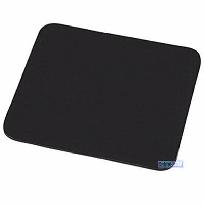 6mm Plain Black Fabric Mouse Mat Foam Back Pc Desktop Computer Laptop Mouse Pad • 2.75£