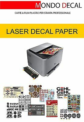 £15.57 • Buy Carta Waterslide Decal Paper Laser Kit: 6 Sheets A4 (3 Clear + 3 White)