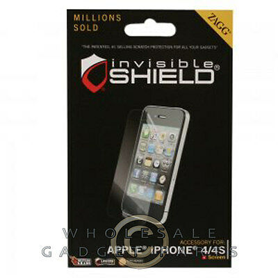 £4.34 • Buy ZAGG Apple IPhone 4/i4S InvisibleSHIELD LCD Screen Protector Cover Film Guard