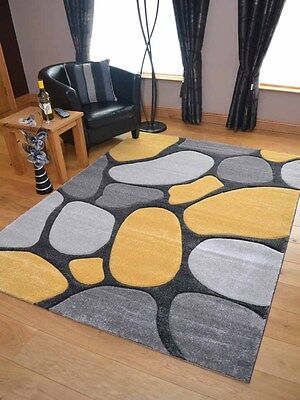 £49.99 • Buy Thick Soft Quality Silver Grey Lt Yellow Floor Mat Rugs Long Hall Runners Cheap