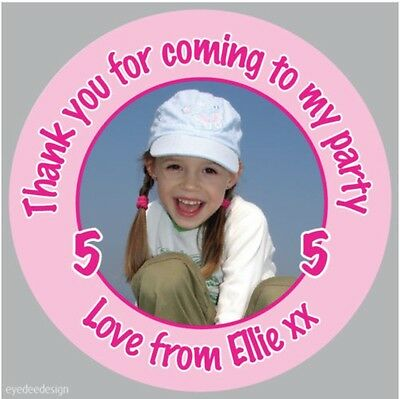 £2.25 • Buy Personalised Girls Birthday Party Bag Photo Stickers Christening Sweet Cone  151