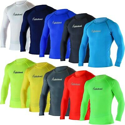 £13.99 • Buy Didoo Mens Full Sleeve Compression Tops Running Long Shirts Training Base Layers