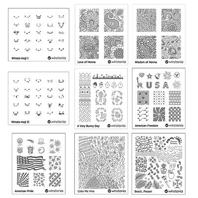$4.95 • Buy Winstonia Nail Art Stamp Image Plate Stencil Template Disc Polish Cute Manicure